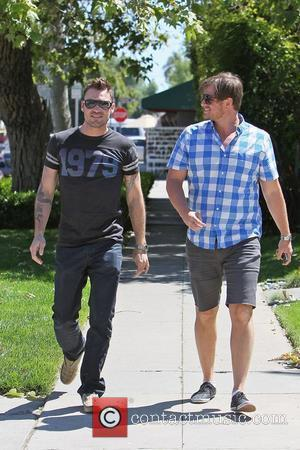 Brian Austin Green wearing a 1979 t-shirt leaving King's Road Cafe after having lunch with friends. Los Angeles, California -...