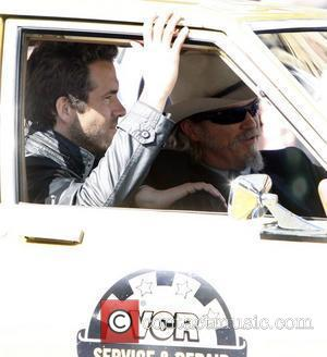 Ryan Reynolds and Jeff Bridges are seen on the set of their new film 'R.I.P.D.' Boston, Massachusetts - 28.09.11