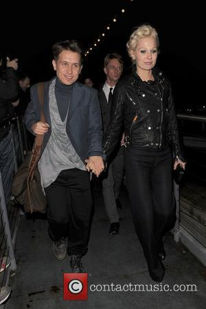 Mark Owen of 'Take That' and his wife Emma Ferguson arriving at the Savoy Pier. The BRIT Awards 2011 afterparty,...