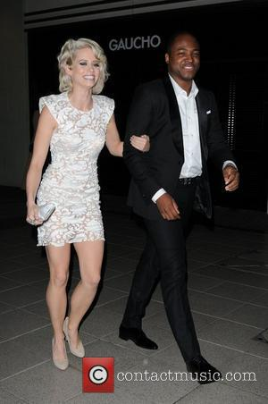Kimberley Wyatt and Taio Cruz The BRIT Awards 2011Sony afterparty held at The Gaucho O2  London, England - 15.02.11