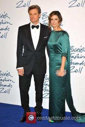 Colin Firth and Livia Giuggioli 2011 British Fashion Awards held at the Savoy Hotel - Arrivals. London, England - 28.11.11