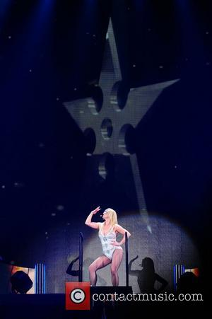 Britney Spears performing during the Femme Fatale tour at Wembley Arena London, England - 31.10.11