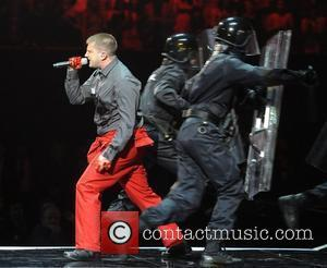 Ben Drew of Plan B performs ,  The BRIT Awards 2011 at the O2 Arena - Inside London, England...