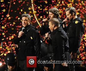Take That perform,  The BRIT Awards 2011 at the O2 Arena - Inside London, England - 15.02.11