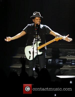 Bruno Mars performing live at the Comerica Theatre  Phoenix, Arizona - 15.06.11
