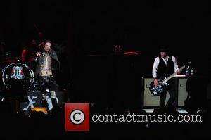Josh Todd of Buckcherry   performs at the American Airlines Arena  Miami, Florida - 29.10.11