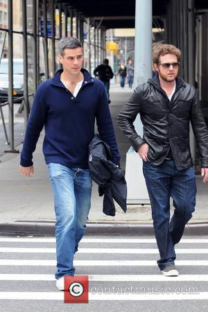 A.J. Buckley and Eddie Cahill  out and about in Manhattan  New York City, USA - 04.10.11