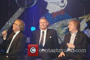 Eric Clapton, Andrew Flintoff and Bill Wyman 25th anniversary dinner of the Bunbury Celebrity Cricket Team at the Grosvenor Hotel...