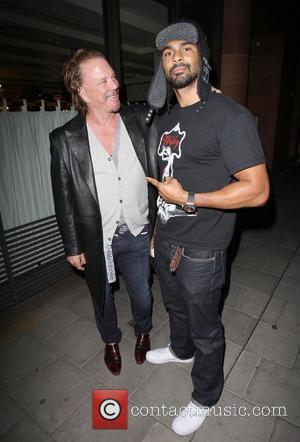 Mickey Rourke and David Haye leaving C London restaurant in Mayfair. London, England - 20.05.11