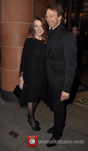 Jerry Bruckheimer with his wife Linda Bruckheimer  Celebrities outside C Restaurant in London London, England - 12.05.11