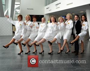 The Calendar Girls stage show with Ruth Madoc, Gwen Taylor, Diana Moran, Danielle Lineker, Lisa Riley, Bernie Nolan, Jennifer Ellison,...