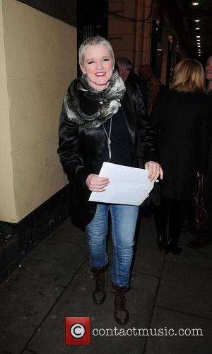 Bernie Nolan  Celebrities outside the Palace Theatre for the stage production of 'Calendar Girls' Manchetser, England - 22.02.11