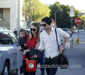 Cam Gigandet, Dominique Geisendorff and their daughter Everleigh leaving the Kings Road Cafe  Los Angeles, California - 26.01.11