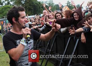 Dick n Dom entertaining the Castle Field crowd on the main stage  Bestival held at Lulworth Castle & Park...