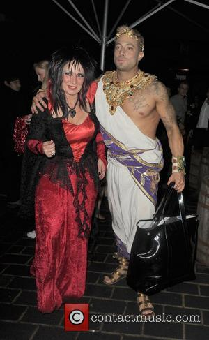 Duncan James and his mother leaving Caprice Bourret's 40th Birthday party. London, England - 28.10.11