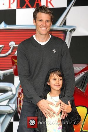 James Cracknell with his son Cars 2 Premiere held at Whitehall Gardens London, England - 17.07.11