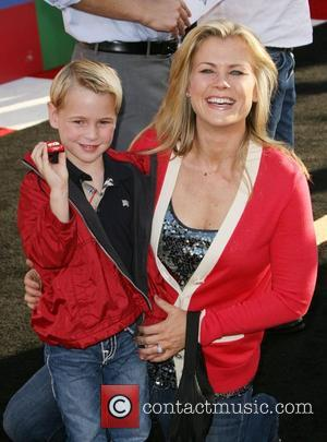 Alison Sweeney and son Benjamin Edward Sanov The Los Angeles premiere of 'Cars 2' held at El Capitan Theatre -...