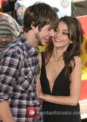 Matt Prokop and Sarah Hyland The Los Angeles premiere of 'Cars 2' held at El Capitan Theatre - Arrivals Los...