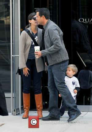 Carson Daly, girlfriend Siri Pinter and son Jackson Daly  out and about in Manhattan New York City, USA -...