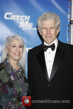 Jamie deRoy and Tony Roberts  Opening night of the Broadway production of 'Catch Me If You Can' at the...