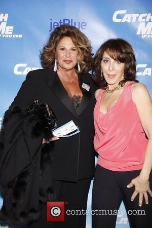 Lainie Kazan and Andrea Martin Opening night of the Broadway production of 'Catch Me If You Can' at the Neil...