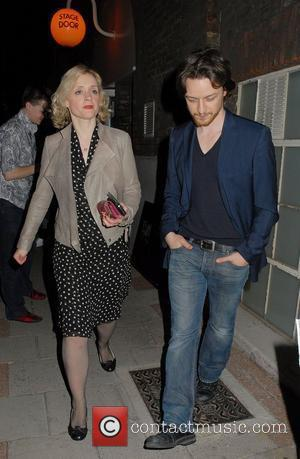 Anne-Marie Duff and James McAvoy,  at the Cause Celebre press night at The Old Vic Theatre - Departures London,...