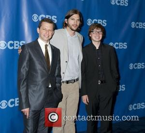 Jon Cryer, Aston Kutcher and Angus T. Jones 2011 CBS Upfront held at the Lincoln Center New York City, USA...
