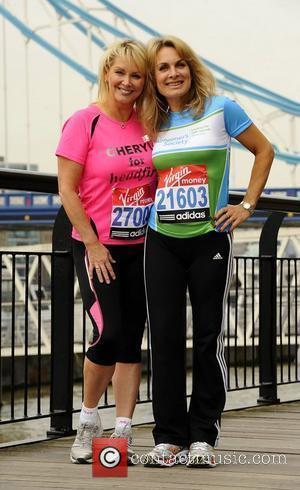Cheryl Baker & Jay Aston Celebrity runners for the London Marathon - Photocall London, England - 15.04.11