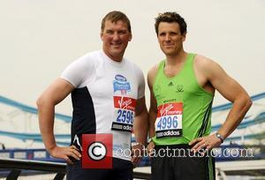 Mathew Pinsent & James Cracknell Celebrity runners for the London Marathon - Photocall London, England - 15.04.11