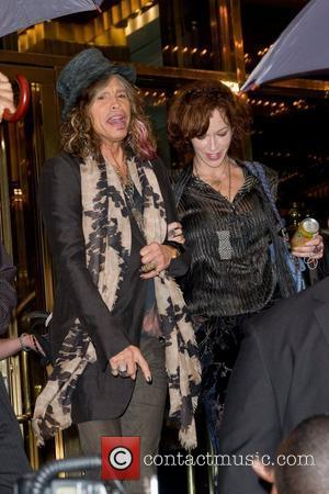 Steven Tyler and his girlfriend Erin Brady leaving their Manhattan hotel  New York City, USA - 14.10.11