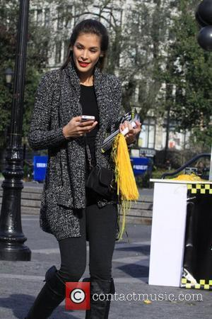 Dayana Mendoza  Guys v Gals - Celebrity Apprentice filming on location in New York City. Each team tried to...