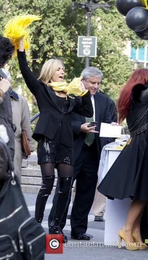 Debbie Gibson on the set of 'Celebrity Apprentice' shooting in Manhattan New York City, USA - 03.11.11