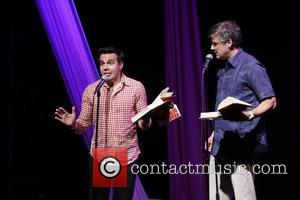 Mario Cantone and Mo Rocca The New York City Gay Pride Edition of 'Celebrity Autobiography' presented by Barefoot Wine held...