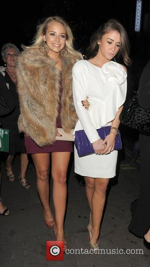 Sacha Parkinson and Brooke Vincent. Macmillan Centenary Gala Afterparty, held at Aqua. London, England - 29.11.11