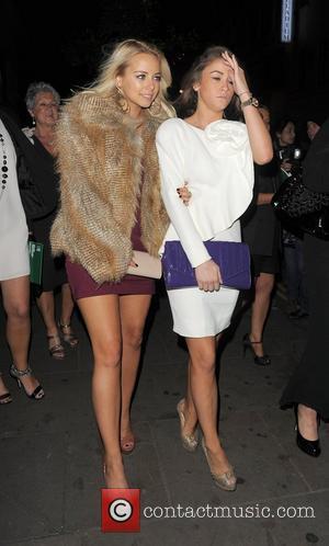 Sacha Parkinson and Brooke Vincent. Macmillan Centenary Gala Afterparty, held at Aqua. London, England - 29.11.11
