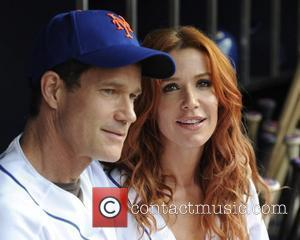 Dylan Walsh and Poppy Montgomery 'Without a Trace' stars at Citi Field to watch the New York Mets game vs...