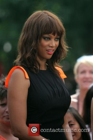 Tyra Banks at The Grove to film an appearance for the entertainment television news programme 'Extra'  Los Angeles, California...