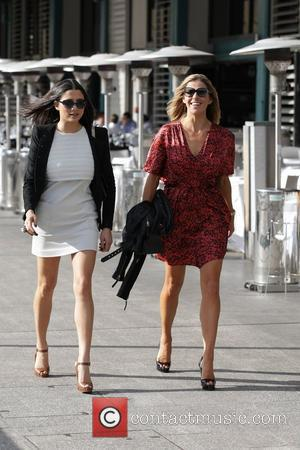 Laura Csortan (right) and Jessica Gomes out and about Sydney, Australia - 05.05.11