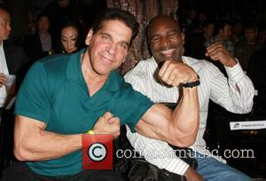 Lou Ferrigno, Evander Holyfield LA Matadors vs Mexico City Front Row held at Avalon  Hollywood, California - 14.03.11