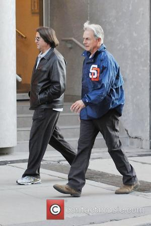 Mark Harmon and a friend out and about in Yorkville Toronto, Canada - 07.05.11