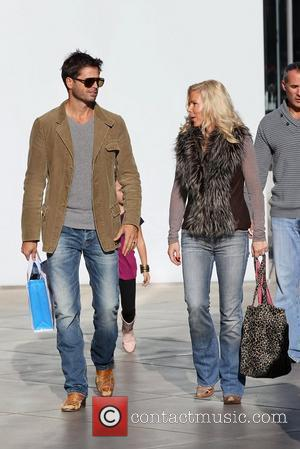 David Charvet  shopping at Century City Mall with his family before going out to lunch Los Angeles, California -...