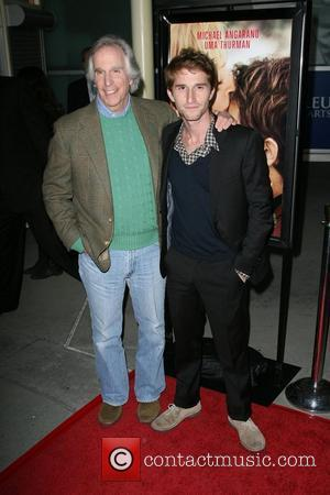 Henry Winkler with son Director Max Winkler Los Angeles Premiere of Ceremony held at the ArcLight Hollywood Theatre Hollywood, California...