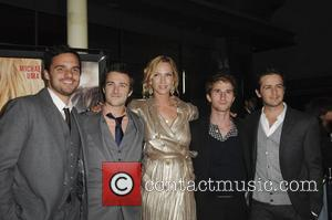 Jake Johnson, reece Thompson, Uma Thurman, Max Winkler, Michael Angarano  Los Angeles Premiere of Ceremony held at the ArcLight...