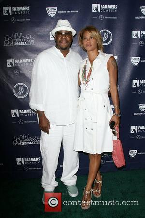 Bobby Brown and wife Alicia Etheridge USTA Hosts Game Changers Pre-VIP Reception to Promote Diversity in Tennis held at the...