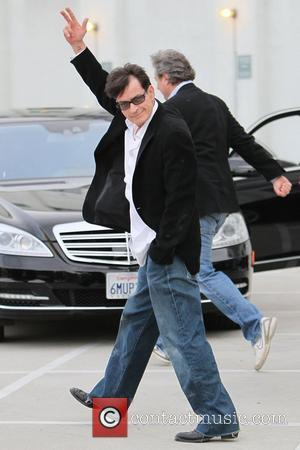 Charlie Sheen  leaving the Live Nation office after his interview  Los Angeles, California - 07.03.11