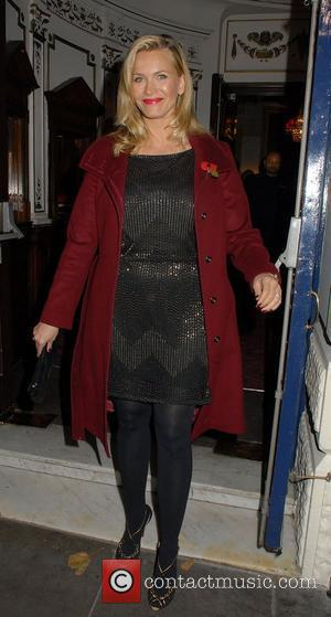 Natasha Henstridge,  leaves the Garrick Theatre after attending the press night of 'Chicago'. London, England - 10.11.11