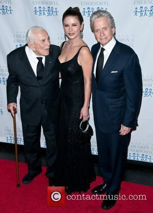Kirk Douglas, Catherine Zeta Jones and Michael Douglas
