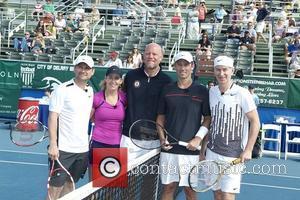 Christian Slater, Chris Evert, Jeffrey Donovan, John McEnroe and Murphy Jensen
