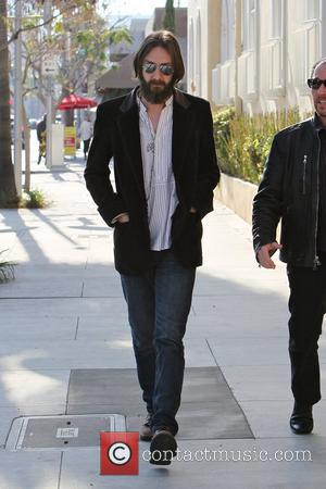 Chris Robinson and a friend are seen having lunch together at Il Pastio in Beverly Hills. Los Angeles, California -...