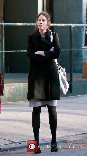 Christy Turlington waits for a cab in Tribeca New York City, USA - 07.03.11